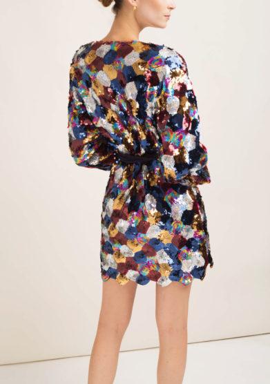 Abito kimono con paillettes