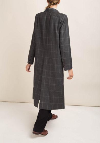 ORIANA NERI - Cappotto in lana a quadri