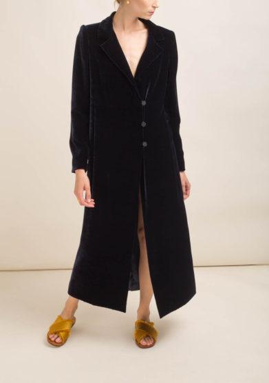 ORIANA NERI - Cappotto in velluto