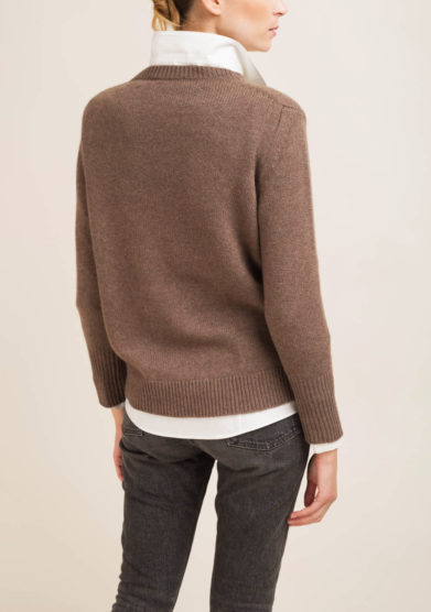 Pullover in cashmere noce