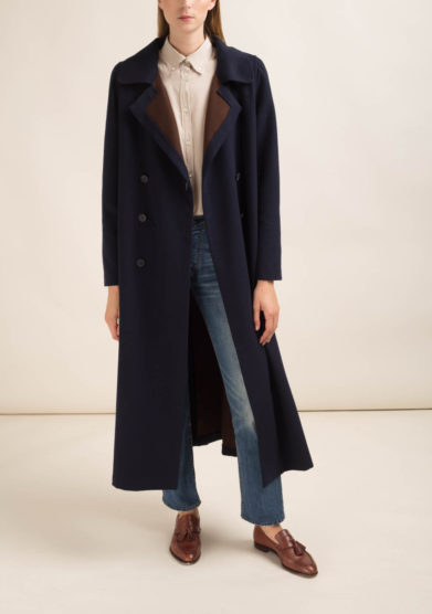 ORIANA NERI - Cappotto in lana blu