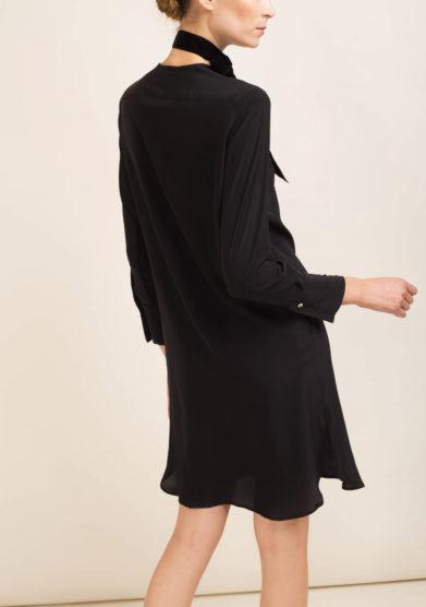 Camicia in seta nera
