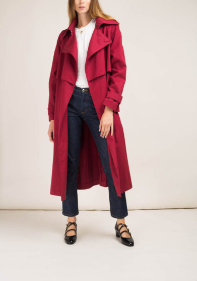 Trench in cotone fragola