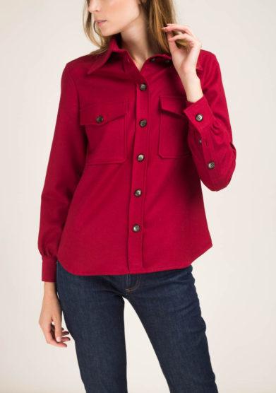 Camicia in flanella rossa