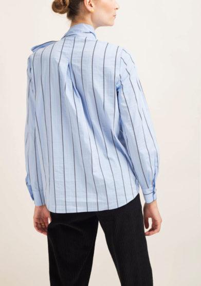 Camicia in cotone con fiocco