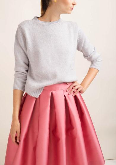 Pullover in cashmere ghiaccio