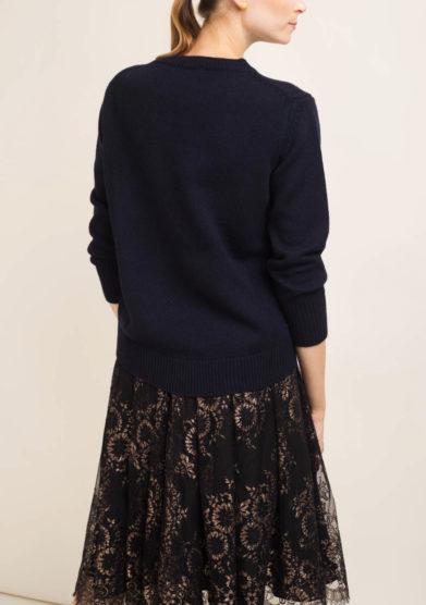 Pullover in cashmere blu