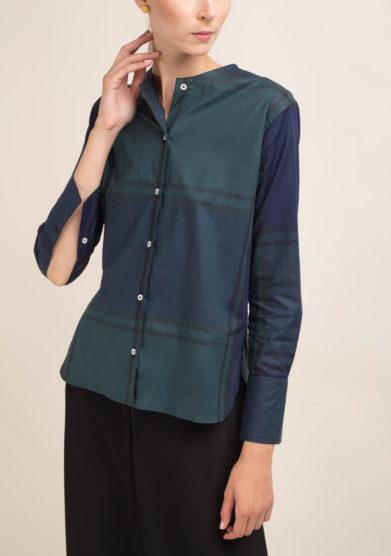 Camicia tartan in seta
