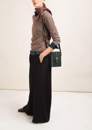 ORIANA NERI - Pantaloni sartoriali in seta