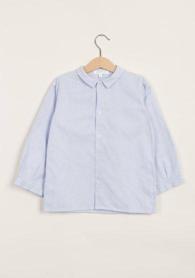 Camicia in cotone oxford azzurro