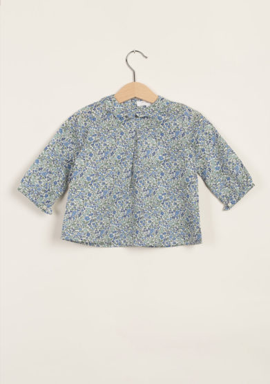 Blusa liberty in cotone con collo