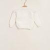 Pullover neonato bianco abbottonato