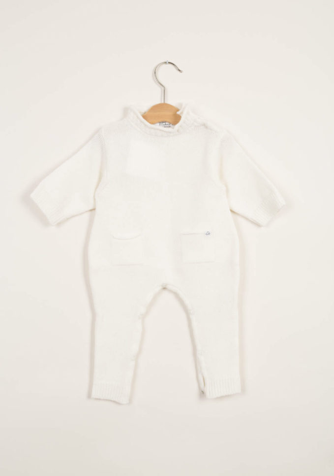 Tutina neonato crema in cashmere