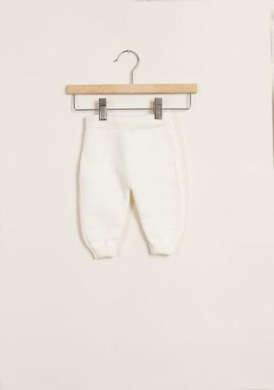 Leggings neonato bianco in lana