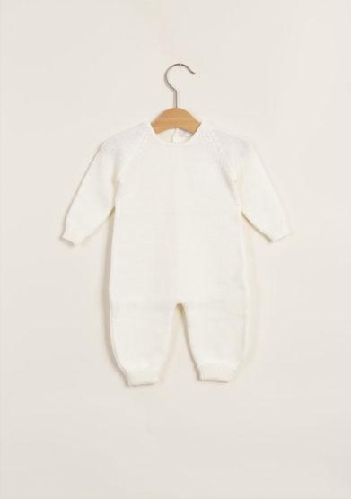 Tutina bianca in lana