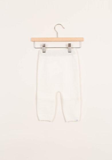 Leggings neonato in cashmere crema
