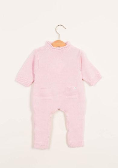 Tutina neonato rosa in cashmere