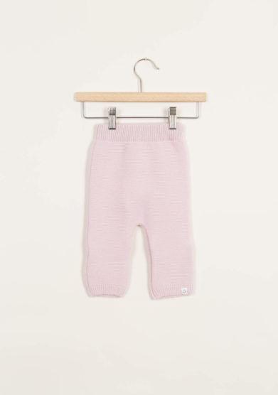 Leggings neonato in cashmere rosa