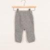Leggings neonato in cashmere grigio
