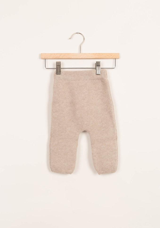 Leggings neonato in cashmere beige