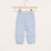 Leggings neonato in cashmere celeste