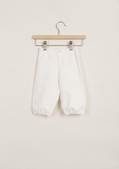 Pantaloni bebè in velluto bianco