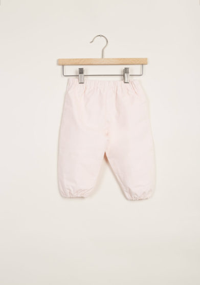 Pantaloni bebè in velluto rosa