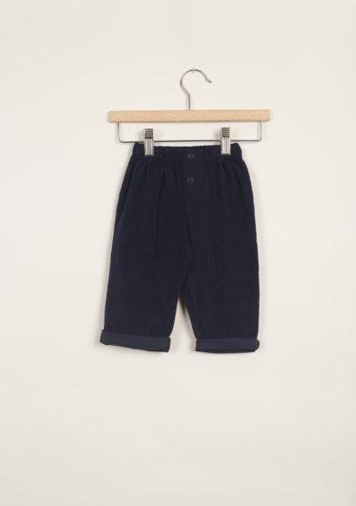 Pantaloni bebè in cotone blu