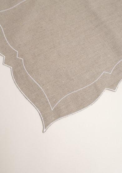 Tovaglietta americana in lino resinato beige