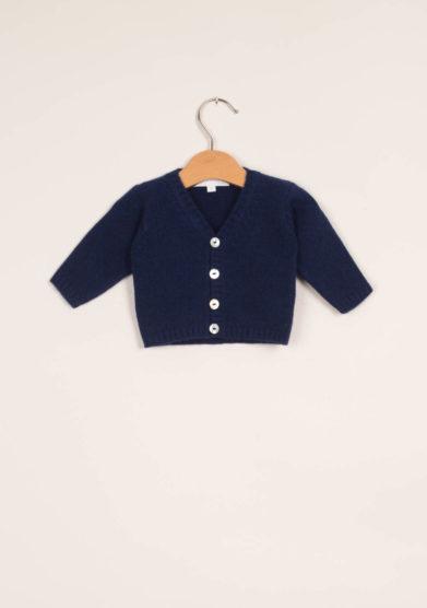 M. FERRARI - Cardigan neonato in lana blu