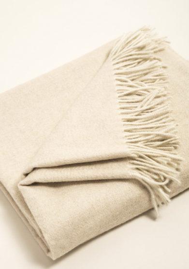 Plaid in puro cashmere