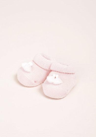 GALLO- Scarpine neonato in cotone rosa
