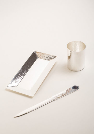 ARG. CORRADINI - Set da scrivania in trilaminato d'argento