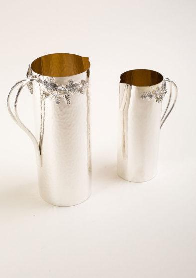 ARG. CORRADINI - Brocca in trilaminato d'argento con decorazione