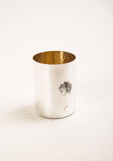 ARG. CORRADINI - Bicchiere in trilaminato d'argento con decorazione