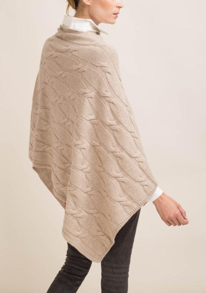 FAGIOLINO CASHMERE - Mantella in cashmere beige