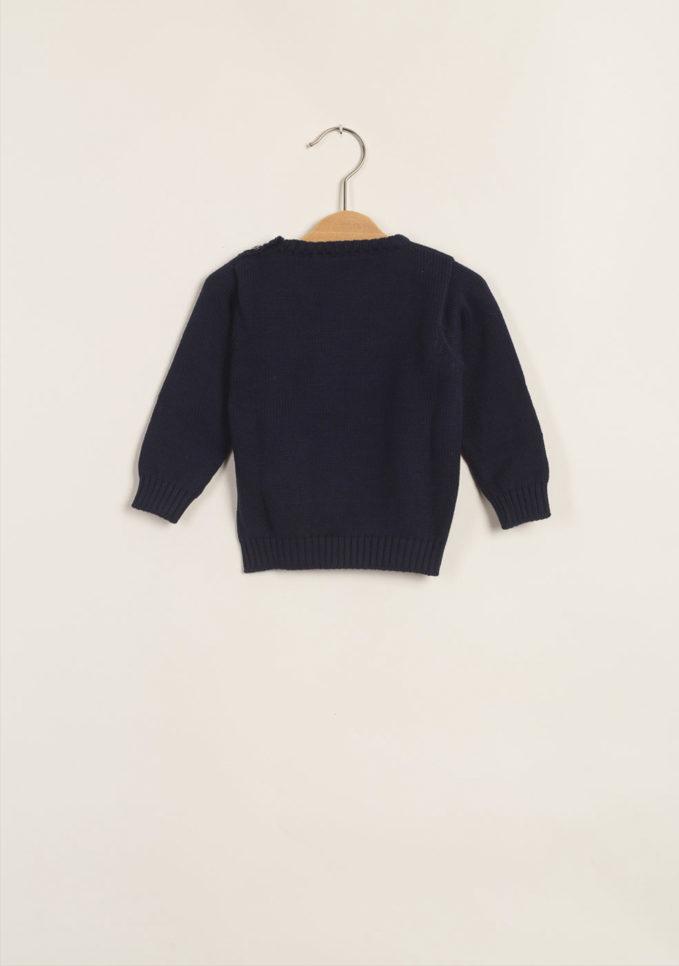 TROTTOLINI - Pullover bambino blu in cotone