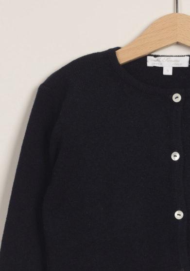 M. FERRARI - Cardigan in lana merinos blu