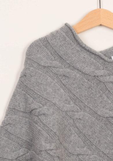 FAGIOLINO CASHMERE - Mantella neonato in cashmere grigio