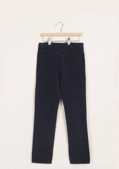 M. FERRARI - Pantaloni in velluto blu