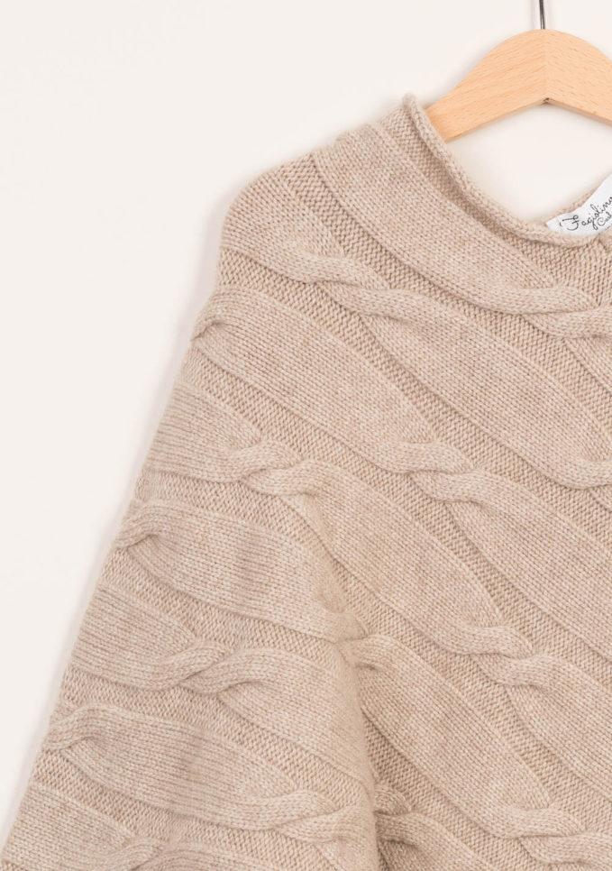 FAGIOLINO CASHMERE - Mantella neonato in cashmere crema