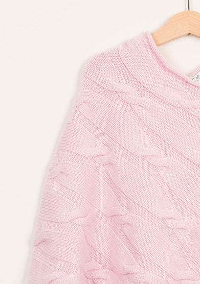 FAGIOLINO CASHMERE - Mantella neonato in cashmere rosa