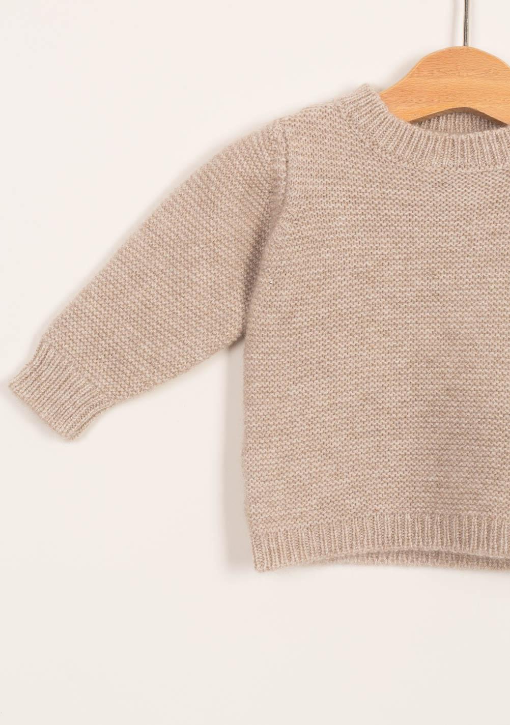 buy popular d678a f2d75 FAGIOLINO CASHMERE - Pullover neonato in cashmere beige ...