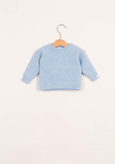 FAGIOLINO CASHMERE- Pullover neonato in cashmere celeste
