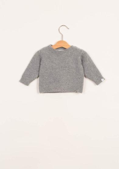 FAGIOLINO CASHMERE- Pullover neonato in cashmere grigio