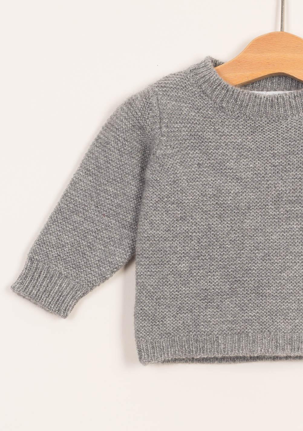 new products 463d3 33d5d FAGIOLINO CASHMERE - Pullover neonato in cashmere grigio ...