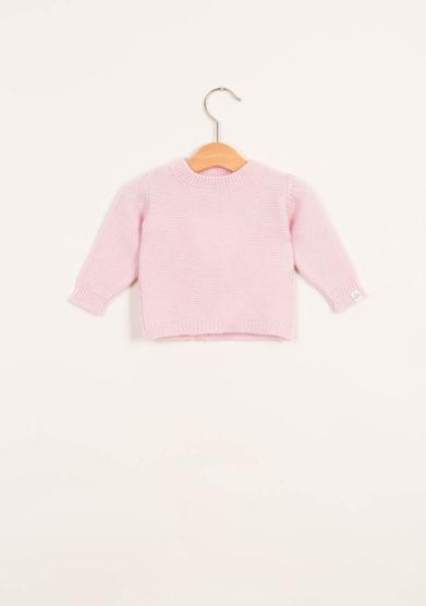 FAGIOLINO CASHMERE- Pullover neonato in cashmere rosa