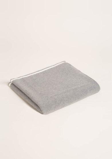 FAGIOLINO CASHMERE- Coperta culla in cashmere grigio