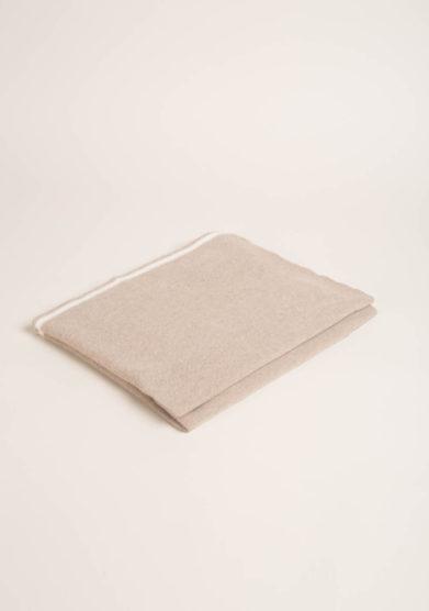FAGIOLINO CASHMERE- Coperta culla in cashmere beige