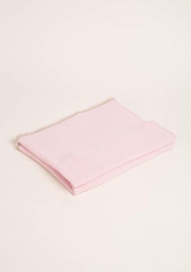 FAGIOLINO CASHMERE- Coperta culla in cashmere rosa